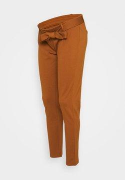 Pieces Maternity - PCMBEATE TIE PANTS - Pantalones - mocha bisque