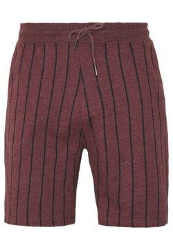Burton Menswear London - BOLD STRIPE - Jogginghose - burg
