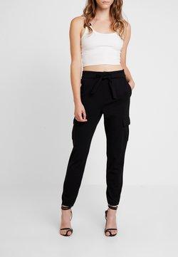 ONLY - ONLPOPTRASH CARGO BELT PANT  - Cargo trousers - black