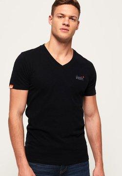 Superdry - VINTAGE  - T-shirt basic - black