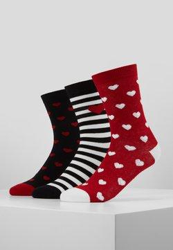 Lulu Guinness - HEARTS SOCKS 3 PACK - Socken - multi