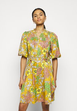 Tory Burch - PRINTED TIE DRESS - Freizeitkleid - multi-coloured
