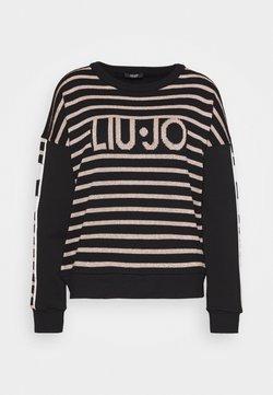 Liu Jo Jeans - FELPA CHIUSA - Strickpullover - nero/rose light gold