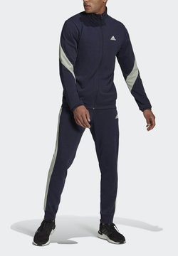 adidas Performance - Cotton TS TRACKSUITS SPORTS TOP:REGULAR-BOTTOM:REGULAR TRACKSUIT - Trainingsanzug - blue