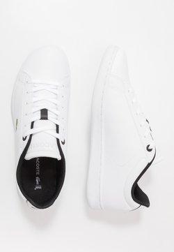 Lacoste - CARNABY EVO - Sneaker low - white/black