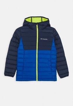 Columbia - POWDER LITE BOYS HOODED - Snowboardjacke - bright indigo/collegiate navy