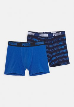 Puma - KIDS COLLAGE STRIPE BOXER 2 PACK - Shorty - blue