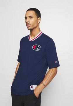 Champion - ROCHESTER RETRO BASKET V NECK - T-Shirt print - dark blue