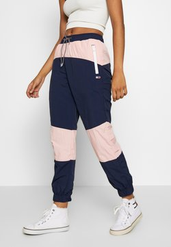 Tommy Jeans - COLORBLOCK  - Jogginghose - black iris/pink icing