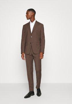 Calvin Klein Tailored - TROPICAL STRETCH SUIT - Jakkesæt - brown