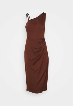 Forever New - NIKKI DRAPE BACK MIDI DRESS - Cocktailkleid/festliches Kleid - chocolate