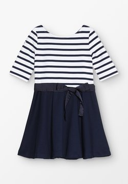 Polo Ralph Lauren - PONTE STRIPE - Jerseykleid - french navy/white