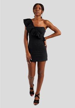 GESSICA - MINIKLEID WITH SHOULDER RUFFLE - Cocktailkleid/festliches Kleid - schwarz