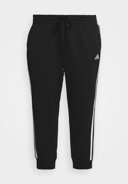 adidas Performance - ADIDAS ESSENTIALS FRENCH TERRY 3-STRIPES PANTS (PLUS SIZE) - Jogginghose - black/white