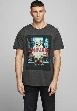 Jack & Jones - JCOEMINEM VINTAGE TEE - T-Shirt print - dark grey melange