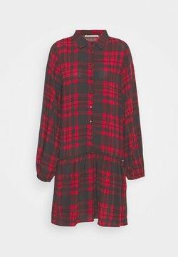 Anna Field - Oversized - Blusenkleid - red/black