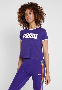 Puma - PERFORMANCE RETRO TEE - T-Shirt print - deep wisteria