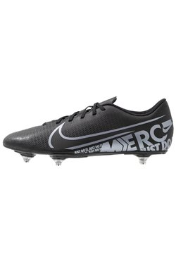 Nike Performance - VAPOR 13 CLUB SG - Korki wkręty - black/metallic cool grey/cool grey