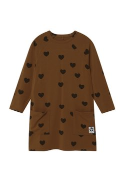 Mini Rodini - HEARTS - Jerseykleid - brown