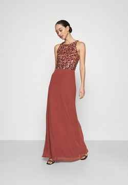 Lace & Beads - AURELIA MAXI - Ballkleid - burnt orange