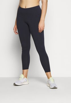 adidas Performance - ESSENTIALS TRAINING SPORTS LEGGINGS - Legginsy - dark blue/pink