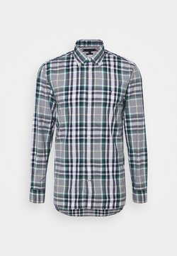 Tommy Hilfiger - MIDSCALE CHECK - Camisa - rural green / yale navy / multi