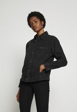 Vero Moda - VMKATRINA LOOSE JACKET MIX - Veste en jean - black