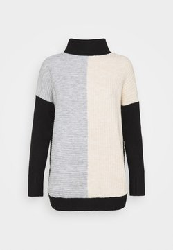 Wallis - COMPACT COLOUR BLOCK JUMPER - Strickpullover - grey