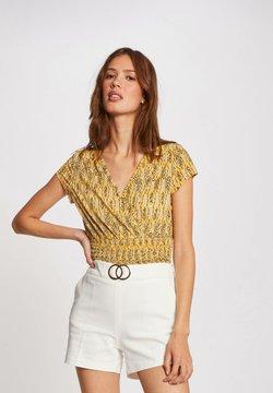 Morgan - VEGETAL PRINT - T-Shirt print - yellow