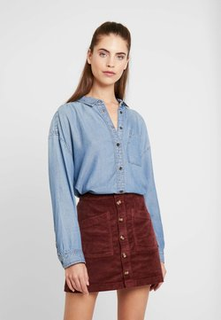 American Eagle - BUTTON DOWN - Skjorta - blue denim