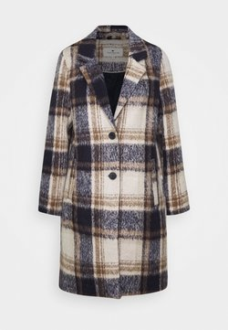 TOM TAILOR - EASY PLAID  - Wollmantel/klassischer Mantel - navy/sand