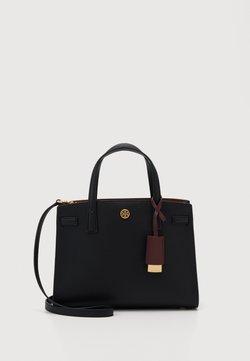 Tory Burch - WALKER TRIPLE COMPARTMENT SATCHEL - Handtasche - black