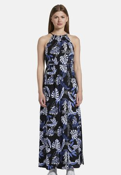 TOM TAILOR DENIM - TROPICAL  - Maxikleid - black blue tropical print