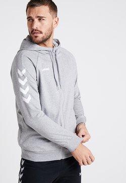 Hummel - ZIP HOODIE - veste en sweat zippée - grey melange