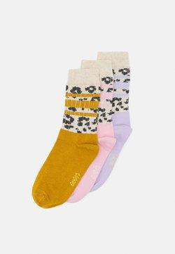 Ewers - KIDSSOCKS LEOPARD STRIPES 3 PACK - Socken - rosé/honey