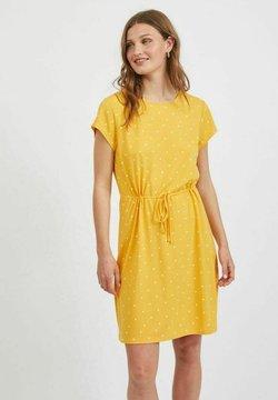Vila - VIMOONEY STRING DRESS - Jerseykleid - yolk yellow