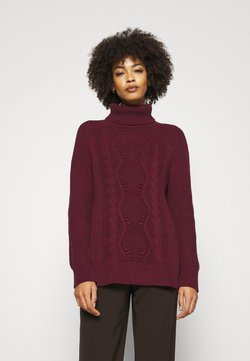 GAP - CABLE TURTLENECK - Strickpullover - pinot noir