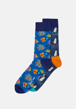 Happy Socks - SEA SOCK 2 PACK - Sokken - blue/medium blue