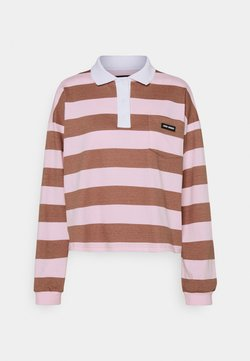 Local Heroes - EASY STRIPED LONGSLEEVE - Poloshirt - brown/pink