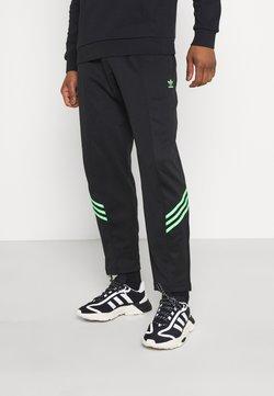 adidas Originals - TRACK PANT UNISEX - Jogginghose - black/shock lime