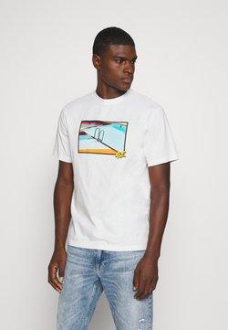 American Eagle - UNISEX SET IN TEE - T-shirt z nadrukiem - cool white