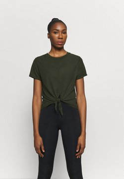 Cotton On Body - TIE UP  - T-Shirt basic - khaki