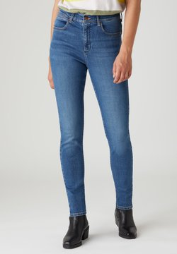 Wrangler - HIGH RISE - Jeansy Skinny Fit - sand storm