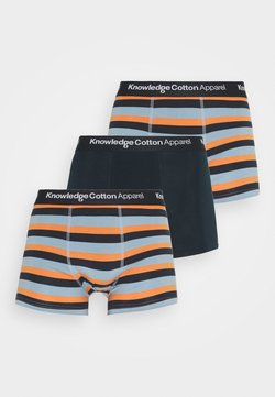 KnowledgeCotton Apparel - MAPLE BLOCK STRIPED UNDERWEAR 3 PACK  - Panties - asley blue