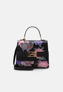 Alberta Ferretti - FLORAL TOP HANDLE - Handtasche - fantasy/black