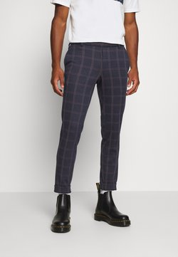 Only & Sons - ONSELIAS CHECK  PANTS - Stoffhose - dress blues