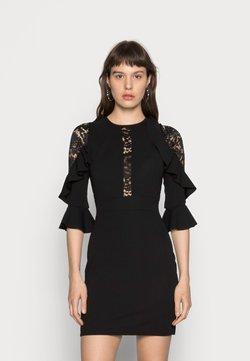 WAL G. - RUFFLE SLEEVE INSERT MINI - Cocktailkleid/festliches Kleid - black