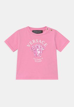 Versace - SHORT SLEEVES VIA GESSU  - Camiseta estampada - pink/white/fuxia