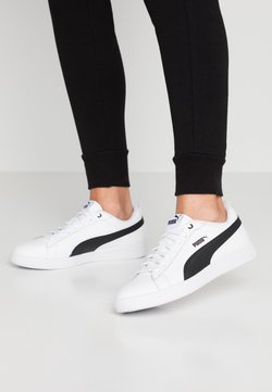 Puma - SMASH - Baskets basses - white/black