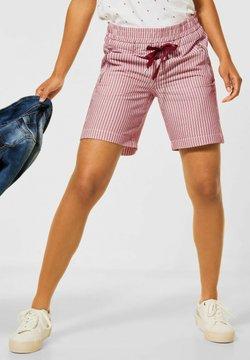 Street One - MIT ZIPPER - Shorts - rot